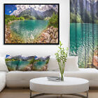 Designart 'Amazing Tatra Mountains Lake' Landscape Print Wall Framed Canvas