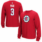 La Clippers Adidas Rbk NBA Long Sleeve Name And Number   - Red
