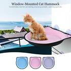 Window-Mounted Cat Bed Perch Hammock Strong Suction Metal Cable for Cat H5P8