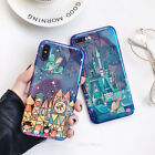 Fairy tale Castle blue Ray TPU Phone Case For iPhone 7 7Plus 6 6S Plus 8 8Plus X
