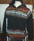New LRG Lifted Research Group black sweatshirt hoodie pull over jacket 2XL o 3XL
