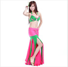 Professional Belly Dance Costumes Performance Mix Color Dancewear bra+skirt #716