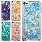 For iPod Touch 5th 6th Gen Liquid Glitter Quicksand Hard Cover +Screen Protector