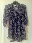 Oh Baby by Motherhood: 2-pc Maternity Blouse: Blue/Purple Floral Sizes S,M