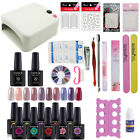 UV/LED Nail Gel Polish Starter Kit Set 36W UV Lamp 10 Color Gel Nail Polish 10ml