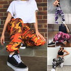 Women Army Camouflage Jogger Bottoms hip hop Cargo Jogging Trousers Pants Latest