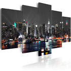 5PCS Huge New York Night Canvas Print Painting Pictures Art Wall Home Decor Gift