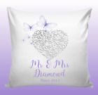 Personalised Cushion Couples Butterfly Cover Valentines Wedding Birthday Gift