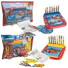 Disney Kids 12pc Roll & Go Art Set Crayons, Markers + Colouring Sheets Drawing