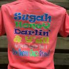 Southern Chics Apparel Sugah Honey Darling Comfort Colors Girlie Bright T Shirt