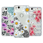 HEAD CASE DESIGNS MARBLE & FLORALS SOFT GEL CASE FOR GOOGLE PIXEL 2