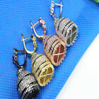 Jewelry Making Findings 18K gold plated Crystal Earing clip Pendant Pinch Bail