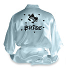 Personalised Mickey Mouse Satin Wedding Robe Dressing Gown Bride Gift
