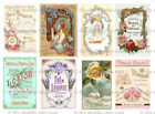 Furniture Glass Decal Image Transfer Vintage Antique Labels Pretty Shabby Chic