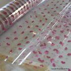 Cellophane Gift Wrap *Loveable Hearts* 2 / 5 / 10 / 20 metres Valentine's Day