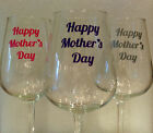 4, 8 or 12  HAPPY MOTHERS DAY Vinyl Decal   Ideal for Glitter Wine Glass /Bauble