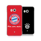 OFFICIAL FC BAYERN MUNICH 2017/18 LOGO HARD BACK CASE FOR HTC PHONES 1