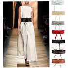 Exquisite Lace Belts for Women Lace Up Wide Belt for Dress Skirt Accessories
