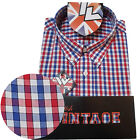 Warrior UK England Button Down Shirt FAWKES Hemd Slim-Fit Skinhead Mod