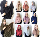 New Ladies Womens Plain Jersey Large Maxi Scarf Pull on Hijab Shawl Sarong Wrap