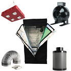 """4"""" Inline Fan Carbon Air Filter Ducting Combo + 800W LED Grow Light + Grow Tent"""