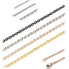 Stainless Steel Curb Chain Necklace 18'' 20'' 21.5'' 24'' 26'' Inch Silver Gold