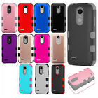 For LG Aristo 2 X210 IMPACT TUFF HYBRID Protector Case Skin Phone Cover