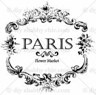 Furniture Decal Image Transfer Vintage Paris French Flower Market Shabby Chic
