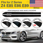For BMW Z4 E85 E86 E89 M Performance Side Skirt Sill Vinyl Decal Stickers 2PC US