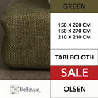 Olsen Table Cloth Green 8 10 12 SQUARE