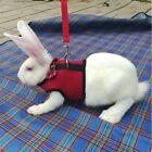 Red Rabbit Guinea Pig Rat Ferret Cat Dog Breathable Harness Leash Lead  M L