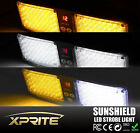 Xprite 86 LED Emergency Warning Hazard Truck Visor Strobe Flash Light AmberWhite