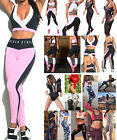 Women Gym Fitness Top Leggings Running Sports Yoga Workout Wear Tracksuit Lot