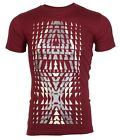 ARMANI EXCHANGE Mens T-Shirt BIG AX LOGO Slim BURGUNDY Designer $45 Jeans NWT