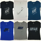 Women's NIKE T-Shirt Scoop Neck Athletic Cut Tee Swoosh Just