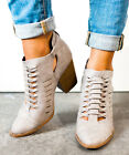 QUPID Summer to Fall Bootie Grey Ankle Boots Bootie 5.5-10 PRENTON-05X