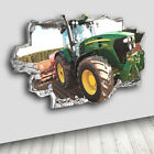 H053 Tractor Kids Cool Boys Nursery Decal Canvas 3D Smashed Hole Wall Vinyl Room