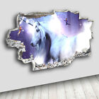 C400 Unicorn Magical Fairies Girls Decal Canvas 3D Smashed Hole Wall Vinyl Room