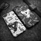 Black White Palace Triangle Logo Soft TPU Case Cover for iPhone X 6s 7 8 Plus