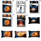 Sports Doona/Duvet/Quilt Cover Set Single/Queen/King Size Basketball Rugby New