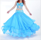 12 meters Chiffon 3 layers Spiral Long Skirt Swing Skirt Belly Dance Costumes