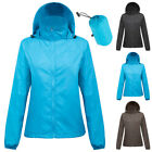 Womens Lightweight Fast-Drying Cycling Running Hooded jacket Outdoor Sports Coat