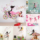 wallpaper for decorating walls - Girl Butterflies Wall Stickers for Bedroom Living Room Decor Wallpaper DIY Mural