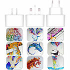 MARC ALLANTE ANIMALS WHITE US CHARGER & MICRO-USB CABLE FOR BLACKBERRY PHONES