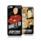 OFFICIAL STAR TREK ICONIC PHRASES TNG HARD BACK CASE FOR APPLE iPOD TOUCH MP3
