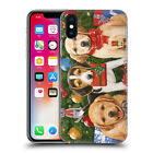 OFFICIAL CHRISTMAS MIX PETS HARD BACK CASE FOR APPLE iPHONE PHONES