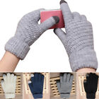Unisex Touch Screen Soft Wool Winter Gloves Warm Smartphone Cell Phone iPhone EW