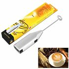 Electric Cordless Milk Frother Handheld Coffee Foamer Cappuchino Latte Mixer