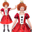 GIRLS QUEEN OF HEARTS FANCY DRESS OUTFIT KIDS WORLD BOOK DAY FAIRYTALE COSTUME