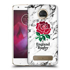 OFFICIAL ENGLAND RUGBY UNION 2017/18 MARBLE HARD BACK CASE FOR MOTOROLA PHONES 1